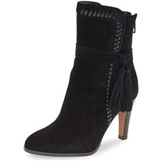 Fashion Ankle Boots for Women Mid Heel with Fringes Round Toe Suede Booties * More info could be found at the image url. (This is an affiliate link and I receive a commission for the sales) #AnkleBootie