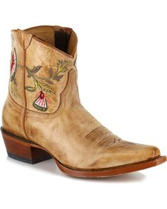 9a748a4bae3c Shyanne Women s Floral Embroidered Western Booties - Snip Toe - Country  Outfitter Cowgirl Boots