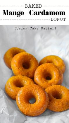 Baked Mango Cardamom Donut: #mango #donut #cardamom #indianfood Indian Desserts, Fun Desserts, Indian Food Recipes, Real Food Recipes, Dessert Recipes, Indian Foods, Healthy Desserts, Delicious Desserts, Donut Recipes