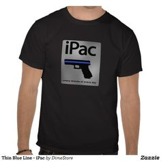 This is the Thin Blue Line version of the iPac design. #ThinBlueLineGraphics #ThinBlueLine #police