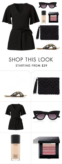 """""""Let's Hit the Shops"""" by tasha-m-e ❤ liked on Polyvore featuring Quay, MAC Cosmetics and Bobbi Brown Cosmetics"""