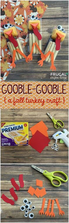 Fall Turkey Cheese Sticks - Fall and Thanksgiving Kids Food Craft on Frugal Coupon Living. These are excellent fall classroom ideas.