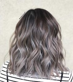 Long Wavy Ash-Brown Balayage - 20 Light Brown Hair Color Ideas for Your New Look - The Trending Hairstyle Balyage Hair, Hair Color Balayage, Hair Highlights, Red Balyage, Ash Blonde Balayage Dark, Ash Brown Balayage, Haircolor, Medium Hair Styles, Curly Hair Styles