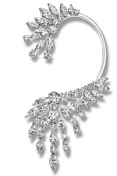 Best Glitter and Sparkle Holiday Accessories - Fall Accessories Shopping Guide - Harper's BAZAAR Ear Jewelry, Diamond Jewelry, Fine Jewelry, Unique Jewelry, Skull Jewelry, Western Jewelry, Hippie Jewelry, Jewellery, Dior Earrings