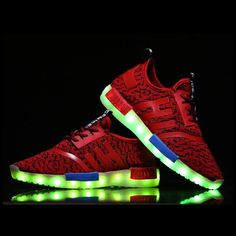 A3953 Adults For Led Sneakers Red - Flashing.Shoes - 1