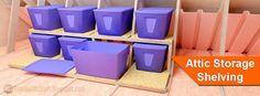 Attic Storage Shelf Plans
