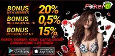 Domino Qiu Qiu – Poker-6 adalah Situs judi domino qiu qiu online terpercaya dan terbaik dengan minimal deposit 10rb dan bonus deposit pertama terbesar 20%.