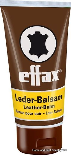 Effax Leather Balm 150ml The most valuable leather care in a 150ml flip-top lid to make specific and clean application easier