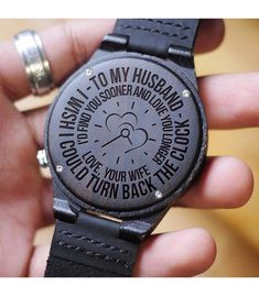 Men Watch - Husband Wooden Watch Great Gift For Husband Bday Gifts For Him, Surprise Gifts For Him, Thoughtful Gifts For Him, Romantic Gifts For Him, Gifts For Fiance, Anniversary Gifts For Him, Diy Gifts For Boyfriend, Gifts For Family, Special Gifts For Him