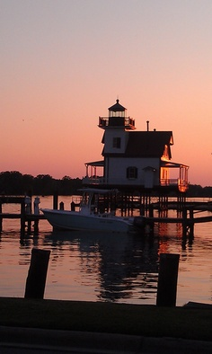 Roanoke River Lighthouse at its new location in Edenton, NC where it's been renovated & made into a maritime museum.