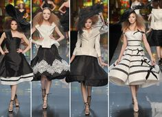 Christian Dior Couture Spring 2009 black and white 2