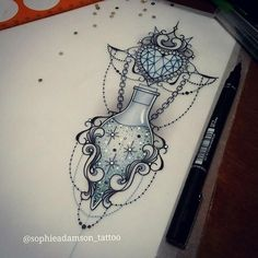 Sophie Adamson.....i know this isn't a tattoo but is a very pretty desing i'll totally love to have this on my skin #half_heart_tattoo #removetattoos #RemoveTattooTat