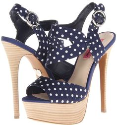 5cf8f76b961 Betsey Johnson  Endall  Sandals Navy Heeled Sandals