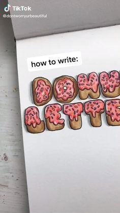 Bullet Journal Lettering Ideas, Bullet Journal Banner, Bullet Journal Notebook, Bullet Journal School, Bullet Journal Ideas Pages, Bullet Journal Inspiration, Hand Lettering Art, Hand Lettering Tutorial, Creative Lettering