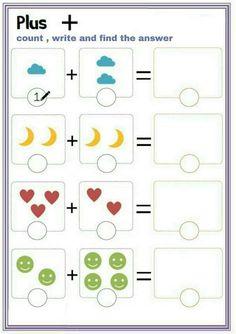Preschool Writing, Numbers Preschool, Preschool Learning Activities, English Worksheets For Kids, Kindergarten Math Worksheets, Math For Kids, Count, Modern Design, Image