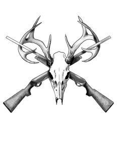 Deer Skull Tattoos on Pinterest | Hunting Tattoos, Deer Track ...