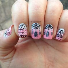 Dream catcher and tribal nails