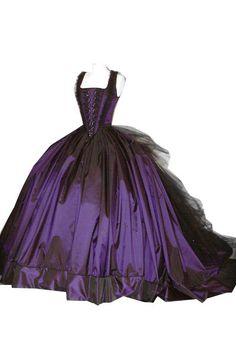 purple gothic wedding dress - Google zoeken