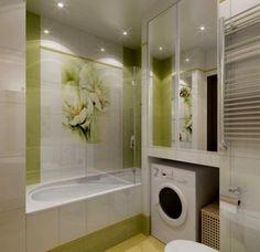 маленькая ванная комната стиральная машина