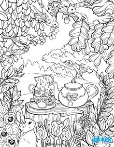 secret garden colouring page --> For the best adult coloring books and supplies including drawing markers, colored pencils, gel pens and watercolors, go to our website at http://ColoringToolkit.com. Color... Relax... Chill.