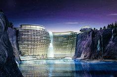Built into the side of a former rock quarry, the Shimao Wonderland Hotel takes full advantage of its unique location. Situated a short drive from Shanghai and scheduled for completion in the near future, the hotel will feature 380 rooms...