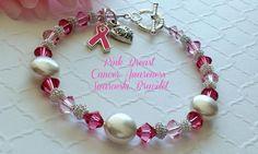 Pink Breast Cancer Awareness Bracelet, Breast Cancer Gifts, Breast Cancer Survivor