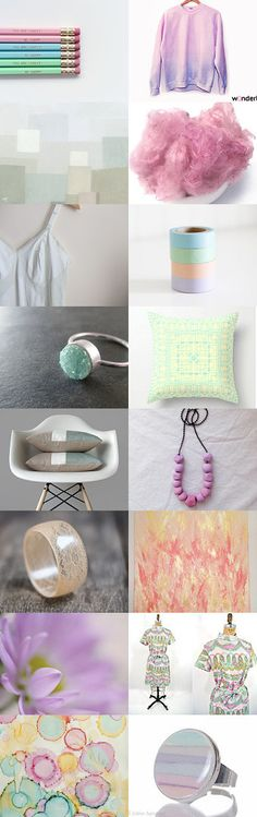 Poetic Pastels by 3buu on Etsy--Pinned with TreasuryPin.com