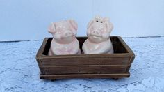 Vintage Pig Salt and Pepper Shakers with by LoriannsVarietyShop, $10.00
