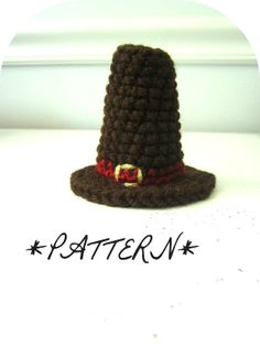 PATTERN  Pilgrims Hat Crocheted in Amigurumi by by lostsentiments
