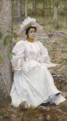 William Robinson Leigh's 1896 oil portrait of Sophie Hunter Colston, which is held at the Smithsonian American Art Museum (SAAM).  Really like this painting.: