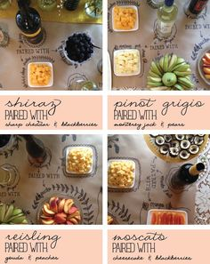 Wine pairings ... craft paper & sharpie for the lay out