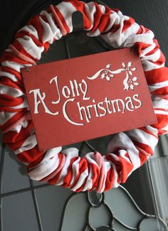 I started this project with a trip to Dollar Tree (of course) and came back with a wreath form and 4 pairs of knee high, striped socks. ...