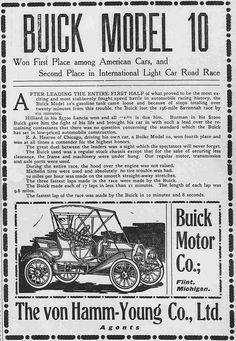 Buick model 10. The von-Hamm Young Co., Ltd.  The Pacific commercial advertiser, January 2, 1909, Page 10 http://chroniclingamerica.loc.gov/lccn/sn85047084/1909-01-02/ed-1/seq-10/  Read about Hawaii's first automobile: https://hdnpblog.wordpress.com/historical-articles/hawaiis-first-automobiles/  Hawaii Digital Newspaper Project http://hdnpblog.wordpress.com/