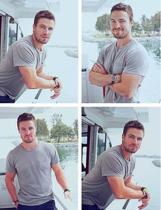 Stephen Amell... Amazing body and beautiful eyes ... He rocks on Arrow
