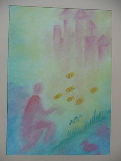 de bijenkoningin Wet On Wet Painting, Grimm, Thoughts, School, Watercolors, Art, First Class, Schools, Ideas