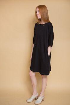 Snap Shot Dress / Black