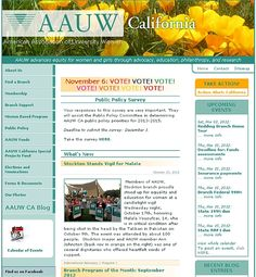 An Information & Resource website was designed for #AAUW California, providing service to 150+ AAUW branches and its leadership teams.