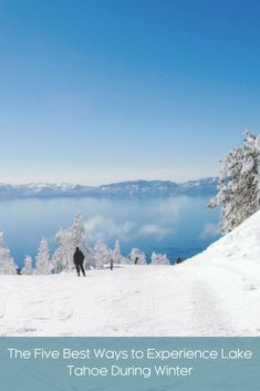 Great skiing isn't the only reason to enjoy a winter vacation in Lake Tahoe. See why this destination is the perfect snowy getaway for the whole family. Winter Vacations, Lake Tahoe, Winter Wonderland, Dreaming Of You, Skiing, Dreams, Mountains, Travel, Outdoor