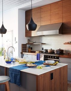 Modern Wood Cabinets   May Be Too Much Wood