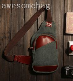 Leather Chest Bag/Messenger Bag/Shoulder Bag/IPad by AWESOMEBAG, $29.99