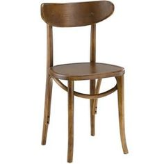 Modway Skate Dining Side Chair in Walnut