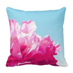 Shop Pink Peony Throw Pillow created by runninragged.