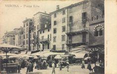 Verona - Piazza Erbe - Case del Ghetto - fine 800