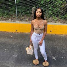 eb7b1fdd378  foreveronfleek Nude Fur Slides 😍🔥 Dope Outfits