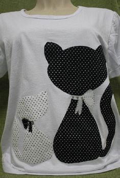 V Neck Patchwork Plain Blouses - Simple Shirts, Cool T Shirts, Tee Shirts, Cat Applique, Embroidery Applique, Diy Crop Top, Dog Quilts, Baby Girl Shirts, Polka Dot Pants