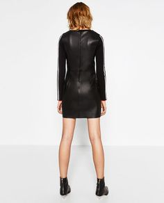 Image 5 of LEATHER EFFECT TUBE DRESS from Zara