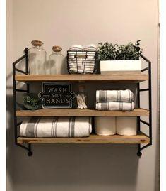 Magnolia Home Decor, Magnolia Homes, Magnolia Kitchen, Rustic Bathroom Decor, Bathroom Styling, Bathroom Ideas, Farmhouse Decor, Funny Bathroom, Bathroom Shelf Decor