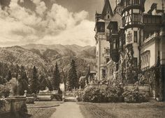 Sinaia - The Royal Castle, 1938 Peles Castle, Painted Paper, Romania, Old Photos, Wwii, Black And White, Architecture, Painting, Culture