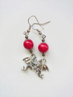 Ohrringe & Ohrhänger - Ohrringe Drachen - ein Designerstück von House-decor bei DaWanda