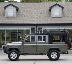 Land Rover Defender 110. In honor of our first snow storm here is a convertible to warm you up.